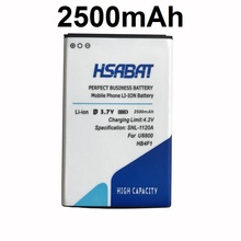 HSABAT 2500mAh HB4F1 Battery for HUAWEI U8220 U8230 E5830 E5838 E5 C8600 T-Mobile Pulse E585 Ascend M860 X5 U8800 C8800(China)