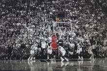 "Basketball poster~ Title Winning Last Shot in Chicago ~ Wings 24x36"" Mint--078"