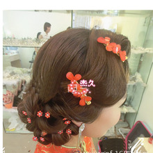 Wedding Bridal Hairclip With Flower Hair Bridesmaid Beaded Hair Pin Clip For Women Accessories HMY-008