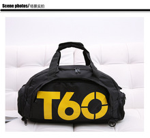 2016 New Brand Women Gym Bags T60 Waterproof Outdoor Men luggage/travel Bag/ Backpack Multifunctional Sport Bag Green Duffle Bag