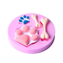 Dog Foot Paw Bone Shape Silicone Mold Chocolate Fondant Cake Baking Mould