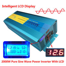 Digital Display 2000W 4000W Peak Pure Sine Wave Power Inverter DC 12V to AC 220V 230V 240V Converter Supply Solar Power