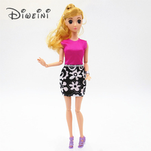 DIWEINI Handmade Dress For Barbie Doll Clothes Blouse Outfit Baby kid Toys for girl's Gift barbie dolls acessorios(China)