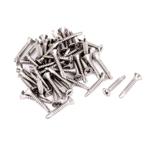 M4.2 x 25mm Cross Flat Head Countersunk Self Drilling Screws 50pcs(China)