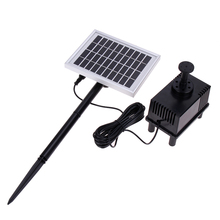 10V/2W Solar Panel Power Submersible Pump Landscape Pool Garden Fountains Pond DC Pump Brushless Motor Water Pump 220L / h