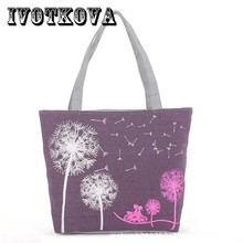 IVOTKOVA Women Reusable Shopping Bag Large Capacity Female Handbags Daily Use Girls Travel Shool Bag Grocery Packing Tote