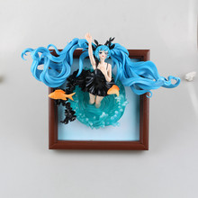 Action figure Hatsune Miku Deep sea girl  Photo frame lovely cute doll PVC 35cm box-packed japanese  anime figurine world 160528