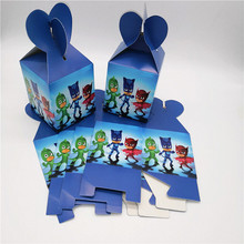 12pcs Cute Cool PJ Masks Candy Box Gift Box Cartoon Theme Kid Boy Birthday Party suppliers Decoration(China)