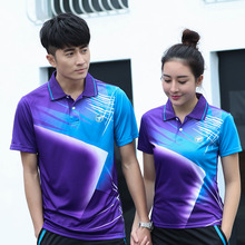 Free Custom Badminton t shirt Men/Women's , sports badminton shirt ,Table Tennis t shirt , Tennis t shirt AY002(China)