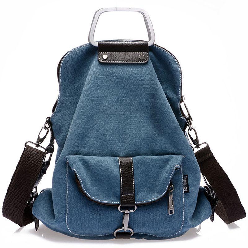 Hot sale six colors fashion canvas Bag Lady backpacks shoulder crossbody bag multifunction women backpack women bags D12-50<br><br>Aliexpress
