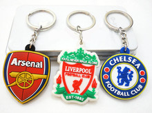 Best selling Football key chain Popular Europe Color Pendant Keychain Exclusive Men And Women Lovers Key Chains Alloy Key Ring