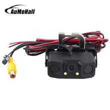 AuMoHall Special Car Rear View Camera with LED Light CCD HD Parking Camera+2 Sensors PAL Packing Assistance System(China)