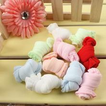 5pcs/lot Spring Summer Cute Candy Color Baby Socks Kids Silk Footwears For 0-2 Years Old Baby Wholesale