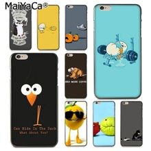 MaiYaCa Funny Anime eggs orange animal DIY Painted Phone Accessories Case for iPhone 8 7 6 6S Plus X 10 5 5S SE 5C Coque Shell(China)