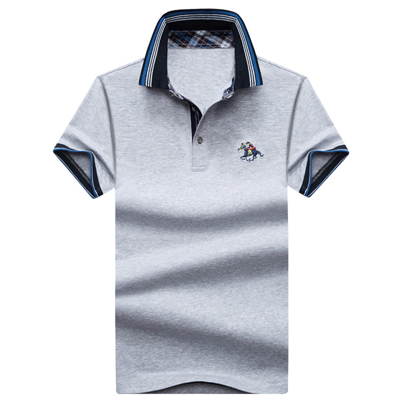 9Color Horse men quality cotton summer brand short golf riding man s male clothing 4XL large size Muls 2017 new arrival-09