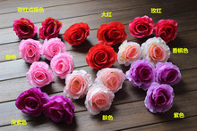 100pcs 2016 cheap rose flower simulation silk flower bouquet floral arch head rose perfume wholesale
