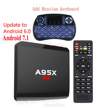 A95X R1 Android 6.0 Smart TV Box RK3229 RAM 1GB ROM 8GB 32bit 1.5GHz HDMI 2.0 4Kx2K HD 2.4G Wifi PK A95x r1 Android 7.1 Smart tv