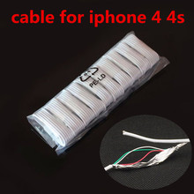 Wholesale 10PCS/Lot 30-Pin USB Cable For iPhone 4s High Quality 1m Data Sync Charger Cabo For iPhone 4 3G 3S iPad 3 2