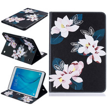 Top quality Painting Stand Flip PU Leather Case For Samsung GALAXY Tab A 9.7 T550 T555 SM-T550 SM-T555 Tablet Pc Case Back Cover(China)