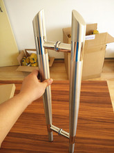 High quality Diameter 38*600mm hole spacing 400mm Variable diameter SUS 304 Stainless Steel brushed Door Handle Pull(China)