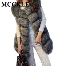 MCCKLE coat women faux fox fur vest brand shitsuke fuorrure femme fur vests fashion luxury peel women's jacket gilet veste