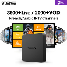T95N 2+8G Smart TV Set Top Box Android 6.0 S905X 1 Year SUBTV Account HD IPTV IT French Europe Arabic Channels(China)