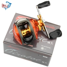 ROSEWOOD Left/Right Hand, Black/Orange Bait Casting Reels 10BB 6.3:1 Baitcasting Fishing Reel Low Profile Carp Fishing Gear
