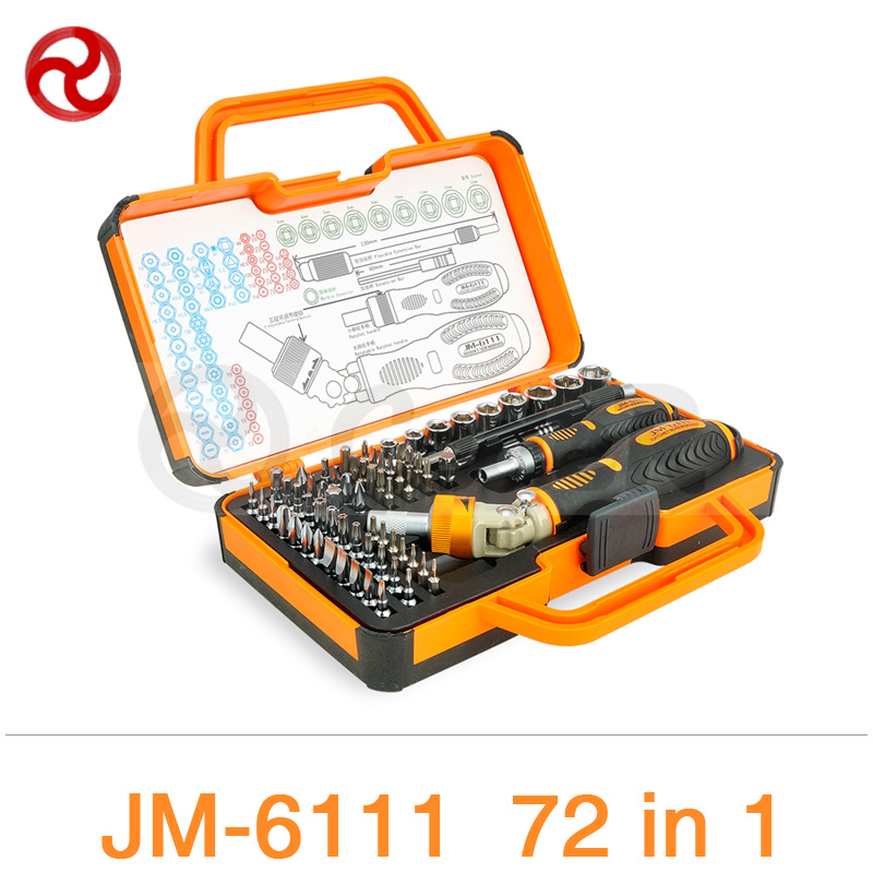 JAKEMY 69 in 1 Screwdriver Set 180 Adjustable Magnetic Ratchet Laptop Computer Home Furniture Auto Car Mechanic Screwdriver Kit<br>