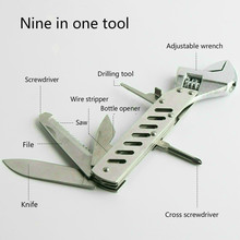 Outdoor folding mini portable multifunctional camping gift tool with a knife combination(China)