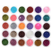 New 30Pcs/Set 30 Mixed Colors Glitter Eyeshadow Powder Pigment Glitter Eye Shadow Mineral Spangle Nail Makeup Cosmetic Maquiagem