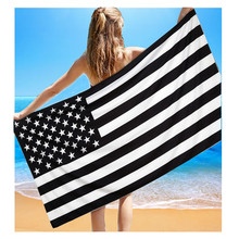 KXAAXS 148x80cm Flag printed Rectangular large beach towel Microfiber bath towel for adults kids European and American style