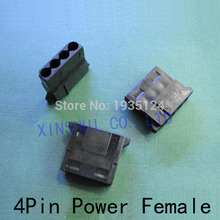 Wholesale High Quality Black 4Pin female Molex Power Connector 4pin Power Female Connector