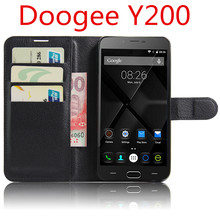 DOOGEE Y200 pu Leather Case With Card / water / dirt proof Wallet Flip Case With Protective  For DOOGEE bag and skin handbag