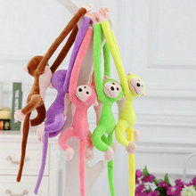 70/90cm factory wholesale monkey plush toys Candy Color cloth doll monkey Long Arm baby toys kids toys birthday gift(China)