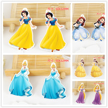 20pcs planar resin cindy snowwhite sofia princess charms with hole flat back resin charms necklace pendant for DIY decoration(China)