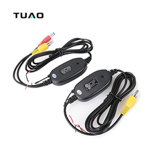 TUAO Rear View Camera 2.4Ghz Wireless Car RCA Video Transmitter Receiver Kit for Car DVD Player Monitor Video Transmitter
