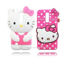Classical Hello Kitty 3D Soft Rubber Mobile Phone Case For LG Stylus 2 K520 F720 LS775(China)