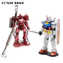 Finger Rock Gundam DIY Zaku 3D Puzzle Action Figures Metal Model Puzzle Toys Birthday Gift for Friend