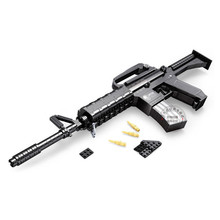 Weapon M16 Gun Toy Model Building Block Sets Bricks Military Weapon Gun Constructor Educational DIY Blocks Gift for Children