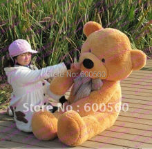 Fancytrader Light Brown JUMBO 63'' Giant Stuffed Teddy Bear Free Shipping FT90059