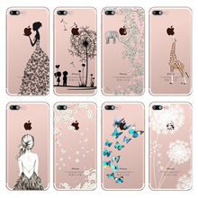 Elephant Butterfly Dandelion Patterned Soft Silicone TPU Phone Case Cover For iphone 7 8 6 6s Plus 5 5s SE X Xs XsMax Xr Coque(China)