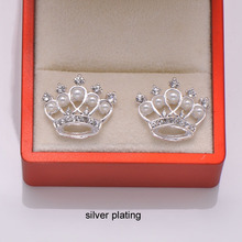 (L0799) free shipping 50pcs 19mmx22mm rhinestone embellishment,flat back,silver plating,ivory pearl