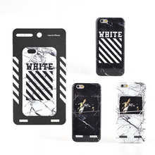 Hot off white ow style marble Lines soft silicon cover case for iphone 6 S 6S plus 7 7Plus phone case Personality figure coque