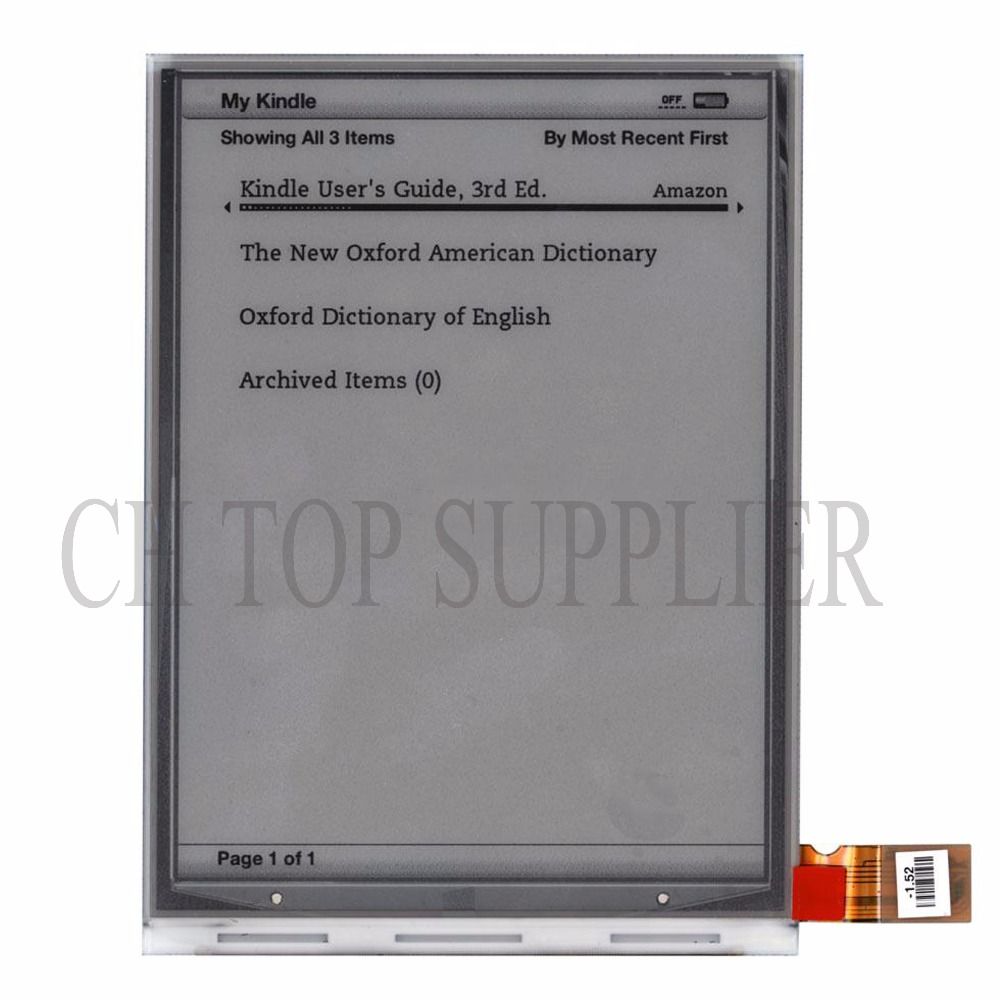 Free Shipping 6 inch For AMAZON KINDLE 3 D00901 LCD Display Screen Replacement Parts<br>