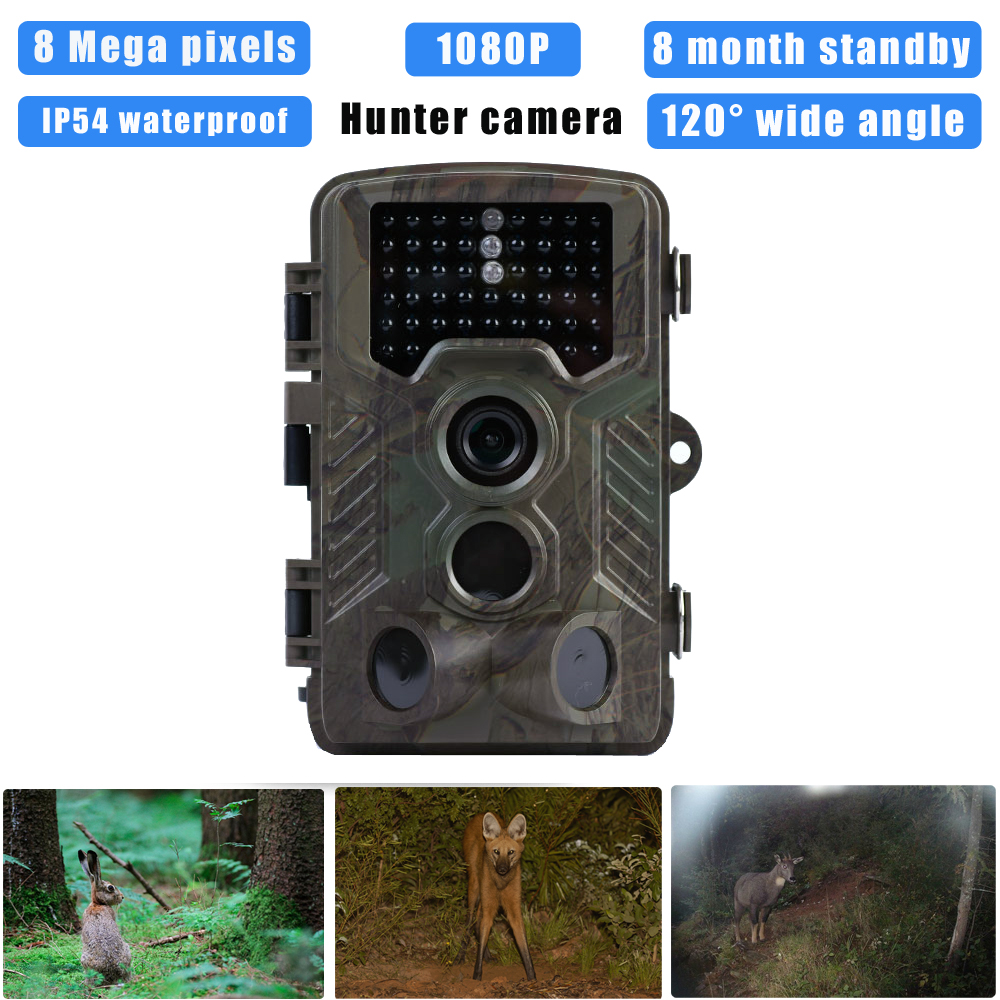 (1 PCS) 2017 Hot sale Hunting Camera HD 8MP support 1080P video Night version Scouting Trail Hunter camera Flower surveillance(China (Mainland))