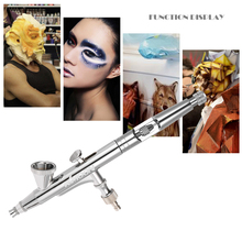 Spray Gun 0.25mm Gravity Feed Dual-action Airbrush Kit Set Air Brush for Makeup Painting Nail Art Tattoo Plastic Dropper Wrench