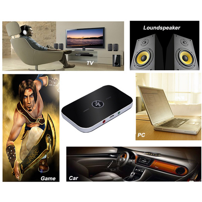 B6 bluetooth wireless audio receiver and transmitter 2in1 adapter  12