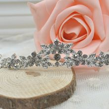 2016 Fashion Cheap Crown Headband  Classic Sparkly Crystal Headband  Crown Tiara Wedding Prom Bride's Headband FMHM083#M1