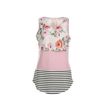 Women maternity clothes maternity dresses Pregnant Maternity Floral TShirt Nursing Tops Breastfeeding Cotton Flower Vest(China)