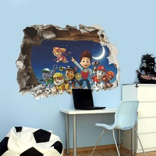 Movies Animation through art wall stickers for kids wallpaper  living room home  decor nursery site home decor 3d stickers
